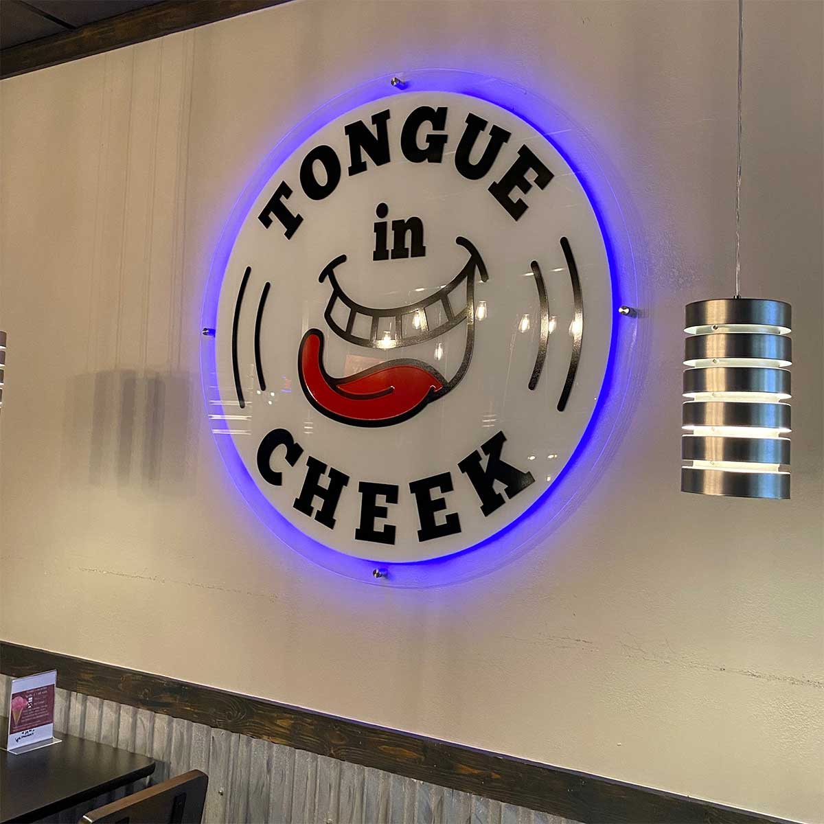 Tongue in Cheek Ice Cream Logo - This is Richardson local podcast for Richardson, Texas