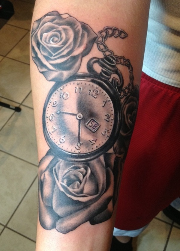 Pocket Watch And Rose Tattoo : pocket, watch, tattoo, Pocket, Watch, Tattoos, That'll, Creativity