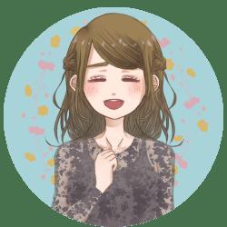 咲-笑顔の吹き出しアイコン