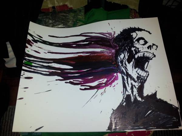 Zombie Crayon Art Awesome Story Of