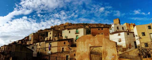 vistas de Xixona hacia el Castillo de Torre Grossa