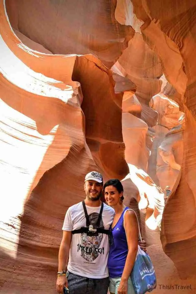 ThisIsTravel recorriendo el Lower Antelope Canyon