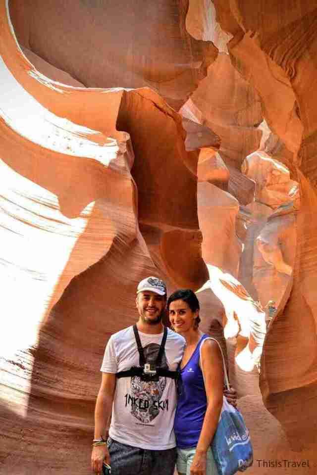 ThisIsTravel recorriendo el Lower Antelope Canyon