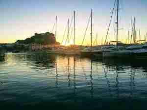 atardecer puerto de Denia