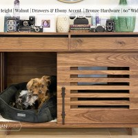 "MED Height | Walnut | Drawers & Ebony Accent | Bronze Hardware | 60"" Width"