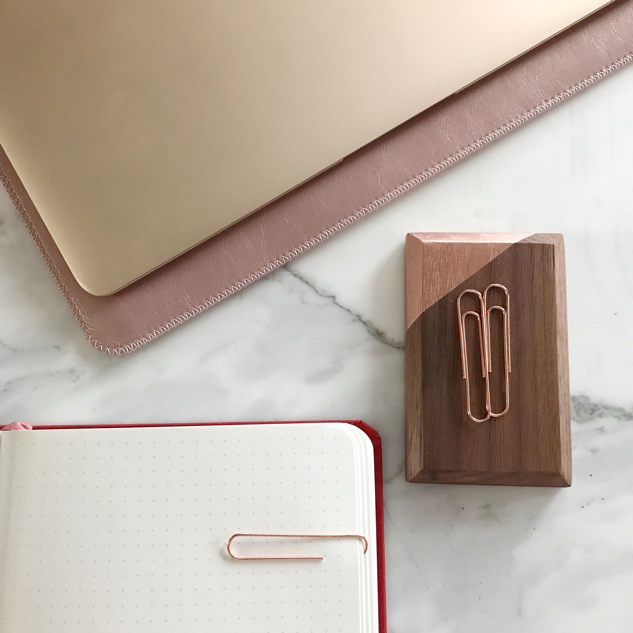 Walnut solid wood magnetic pin and clip holder