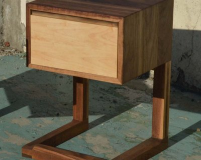 Walnut and Maple C Stand Night Stand