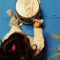 παιχνίδι με μακαρόνια και σουρωτήρι