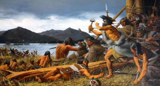 The 1804 Battle of Sitka.