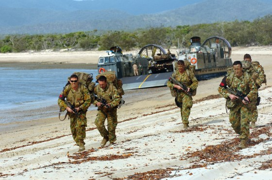 The Australian Army, pictured here, provides for the defence of a number of island nations throughout the South Pacific that don't maintain or can't afford their own armed forces.