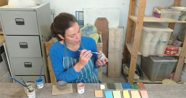 Adele Stanley Painting Ceramics