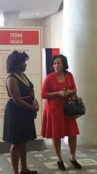 "Ebony Combs of ""imebony"" & Johnita Jones, Texas Conference for Women board president"