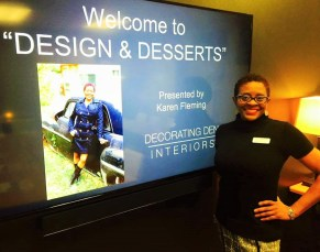 Karen Fleming kicking off her interior design career at Decorating Den