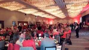 A view of the room for Tarrant County Go Red Luncheon