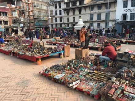 Vendors in Kathmandu Durbar Square
