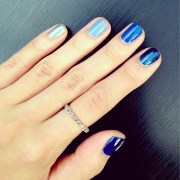 nails baby shower polished