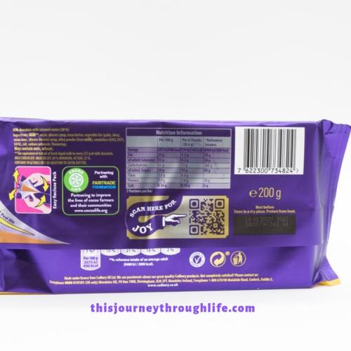 candy bar nutrition label - TJTL - weight loss and increased energy information