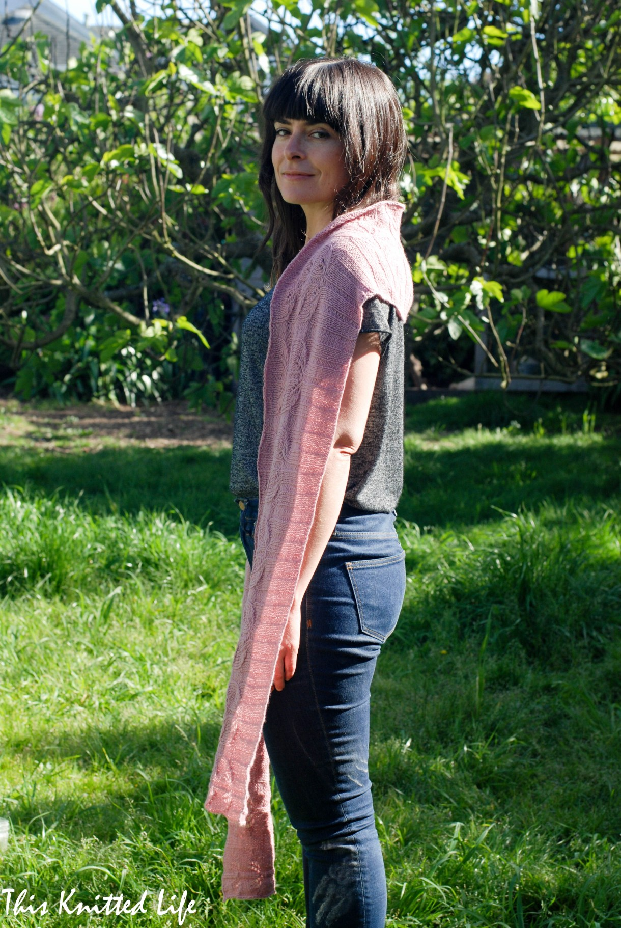 Tulipland. A lovely, light, and bright scarf perfect for spring and summer. Knit horizontally.