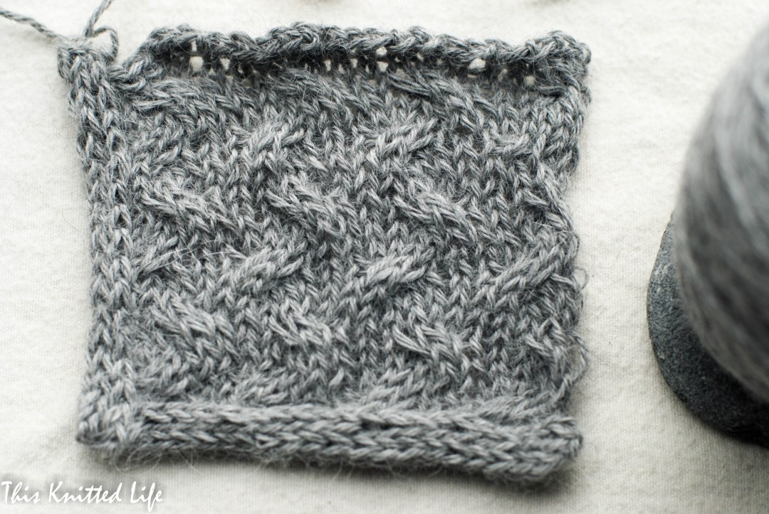 Swatching up a poncho in Puna alpaca.
