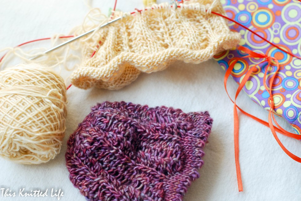 Knitting wee baby hats over at This Knitted Life. Too cute!