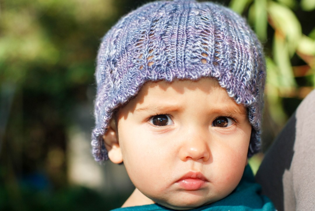 Ari's Wish Baby Hat by Andrea @ This Knitted Life. Fingering weight yarn.