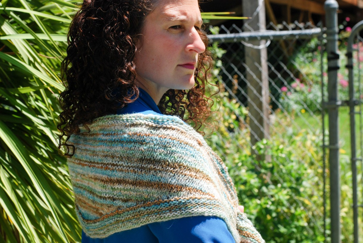 Rainland Shawlette by Andrea @ This Knitted Life.