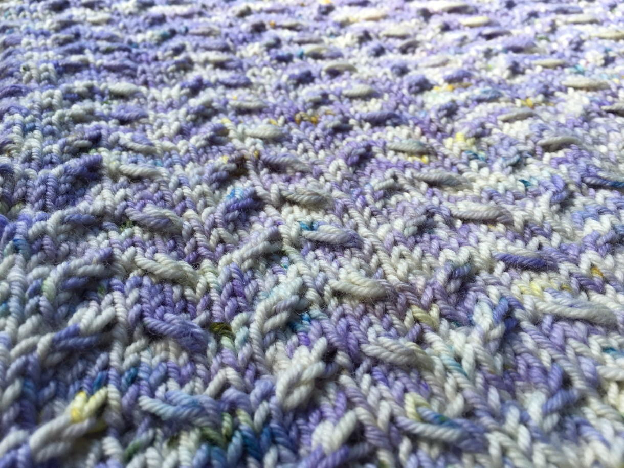 Pansyland Cowl pattern by Andrea @ This Knitted Life.