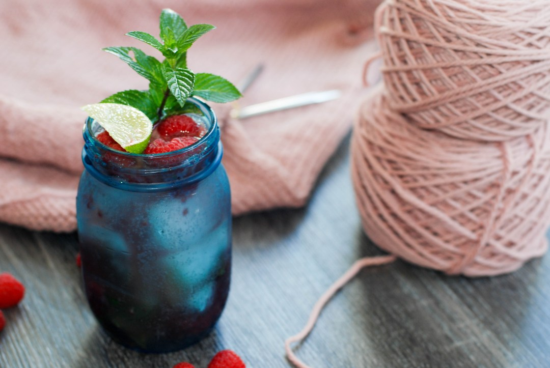 Cocktail-Knitting night with free Moscow Mule recipe.