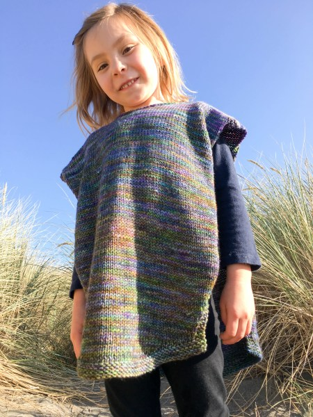 Celia's Poncho for kids by Andrea @ This Knitted Life