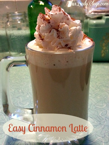 Easy Cinnamon Latte at Home ~ No Special Equipment Needed!