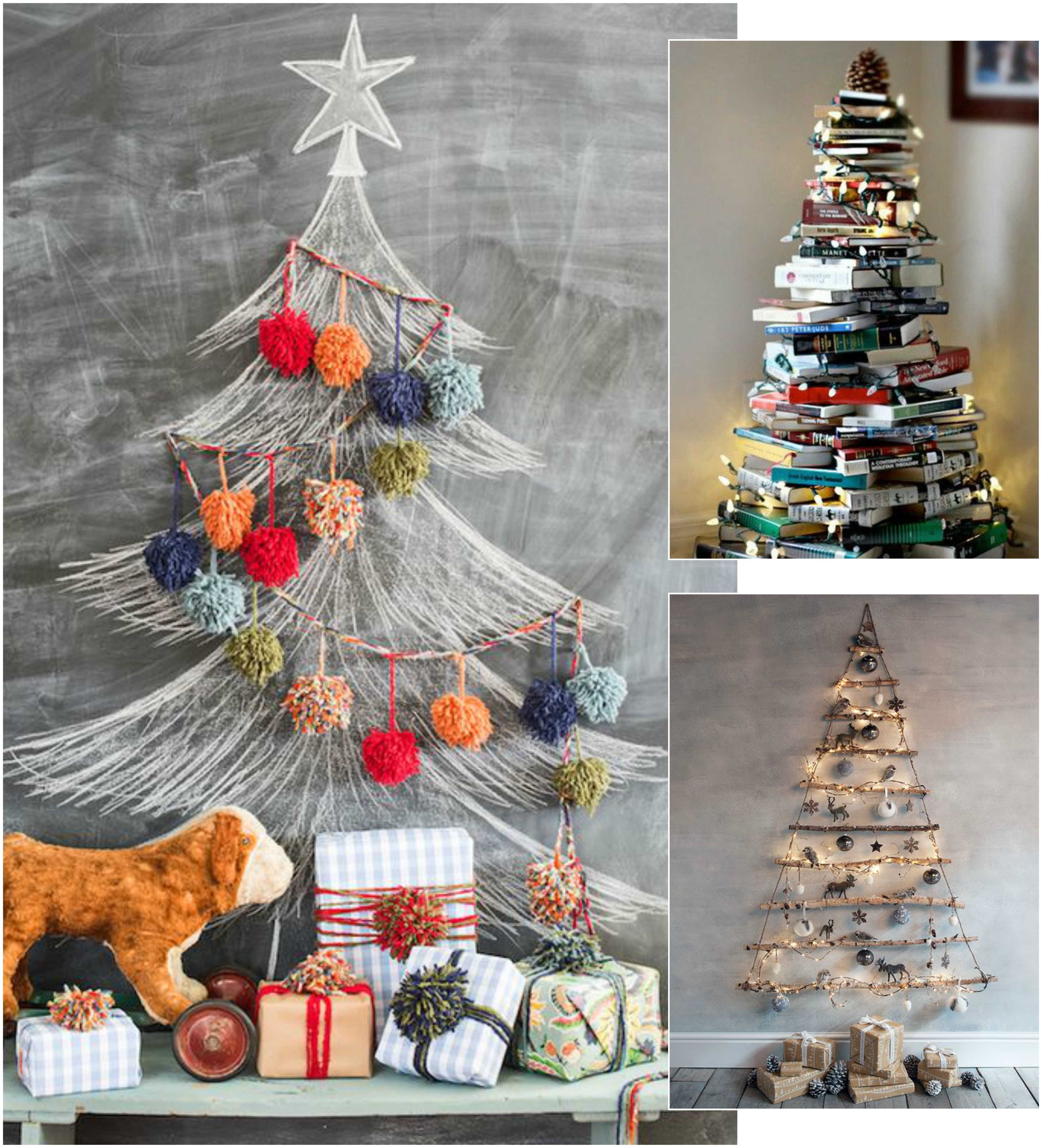 3 Ways To Give Small Space Big Impact Christmas Edition: big christmas tree small space