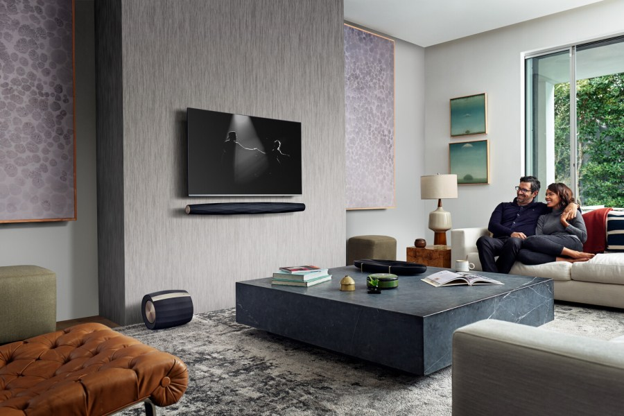 Formation audio suite in living room.