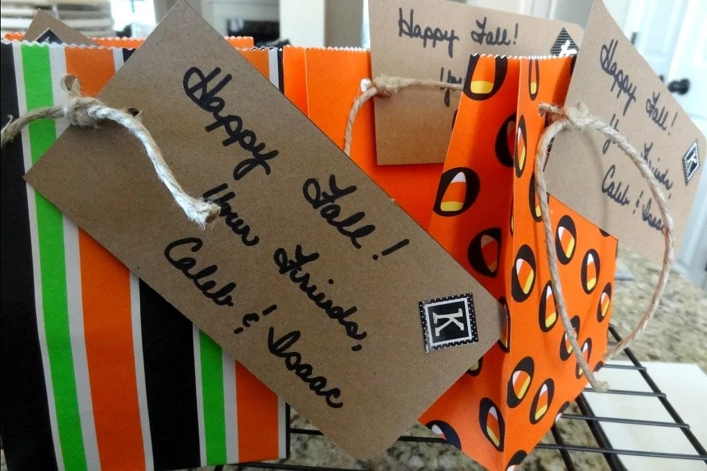 Fall Treat Boxes and Bags For Your Neighbors by This Little Home of Mine