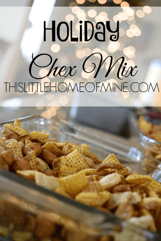 How to Make Savory Chex Mix by This Little Home of Mine