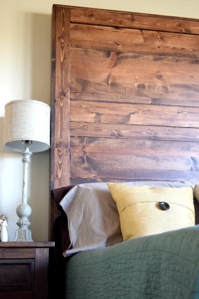 How to create your own rustic headboard this little home How to make your own headboard