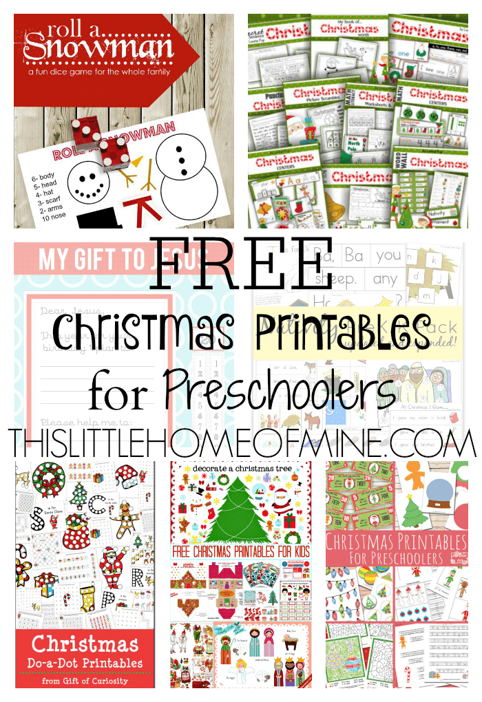 free christmas printables for preschoolers on this little home of mine