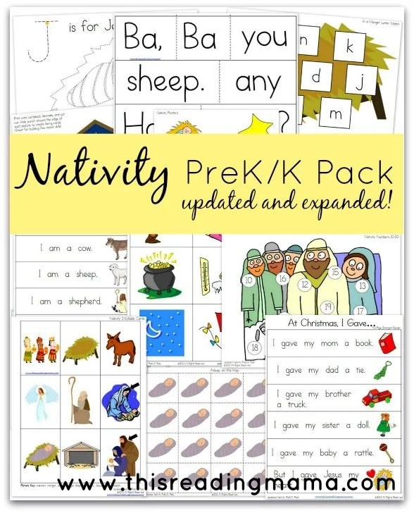 Nativity Packet for Pre-K and Kingergarten