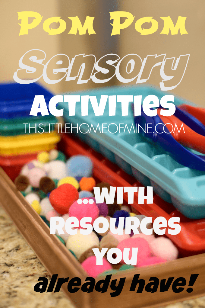 Pom Sorting Sensory Activities Resources by This Little Home of Mine