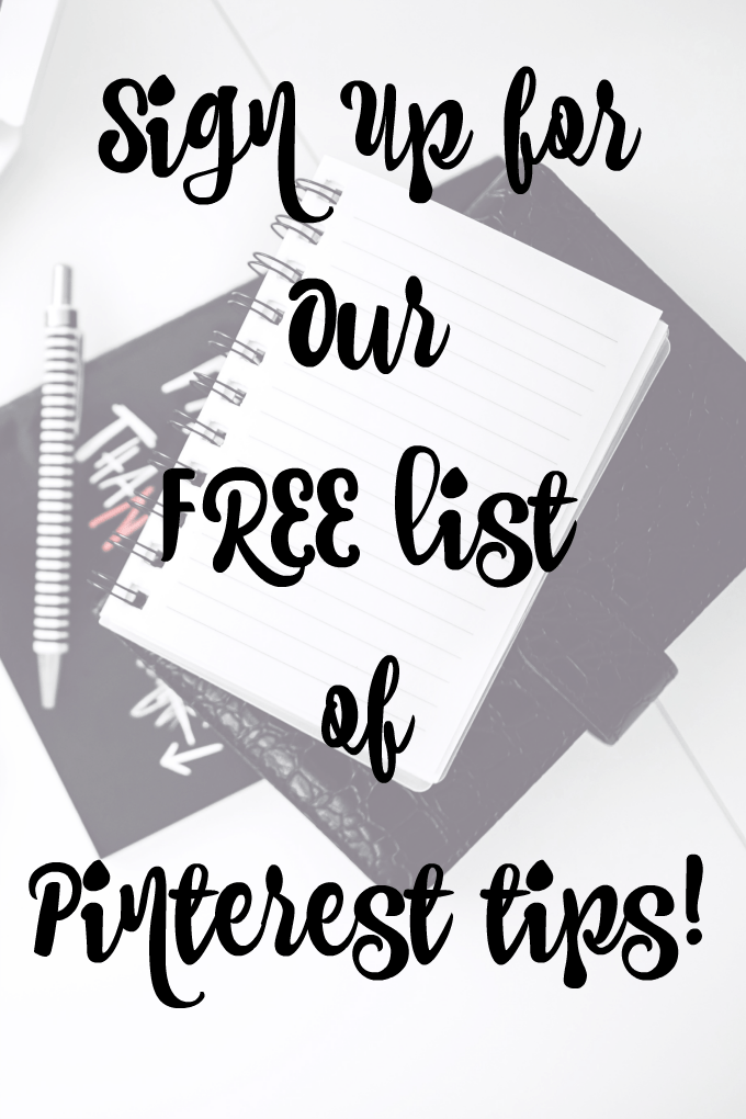 Sign Up For Our Free List of Pinterest Tips by This Little Home of Mine