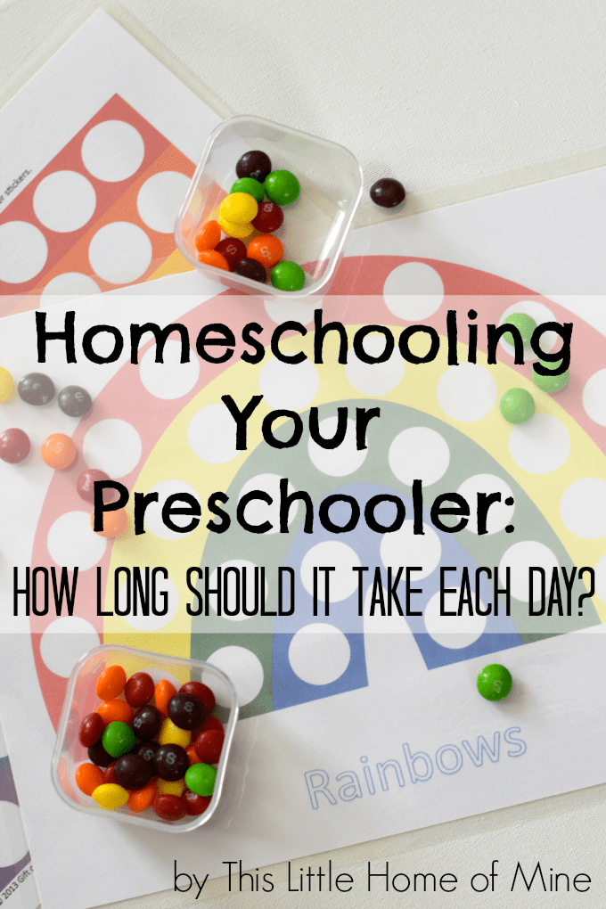 Homeschooling Your Preschooler: How long should a homeschool preschool day last? by This Little Home of Mine