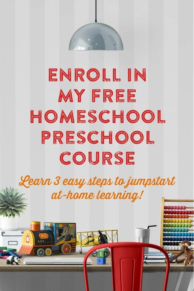 Enroll in my FREE Homeschool Preschool Course by This Little Home of Mine