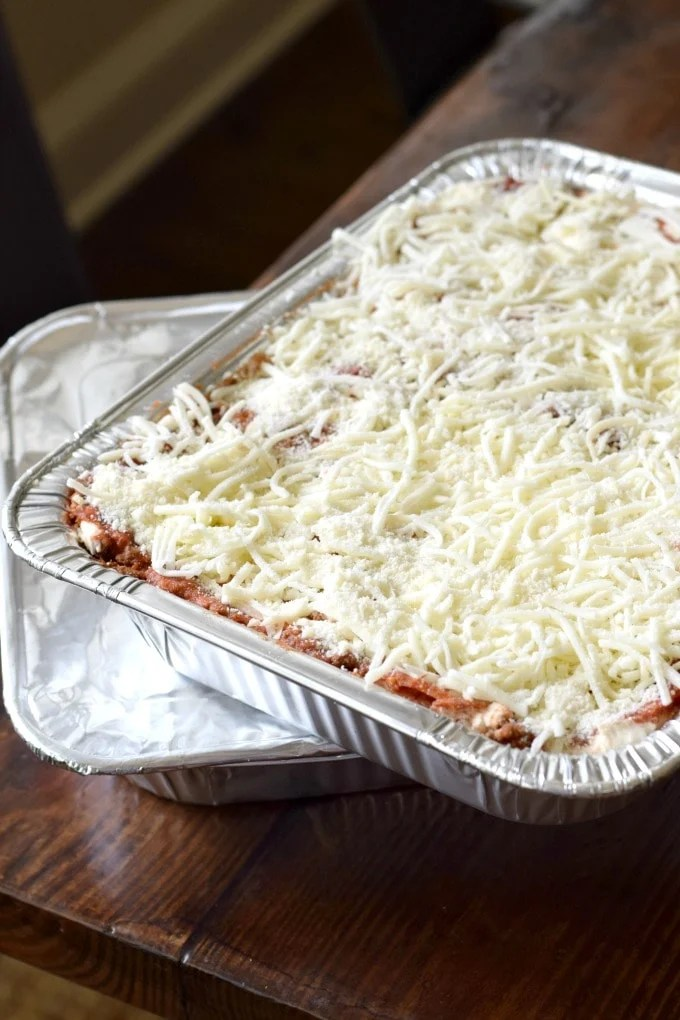 Freezer Lasagna: Featuring Trisha Yearwood's Cowboy Lasagna Recipe by This Little Home of Mine