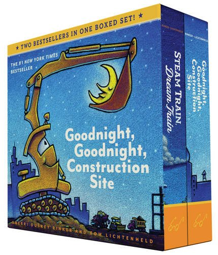 Goodnight, Goodnight Construction Site and Steam Train, Dream Train Boxed Set - Featured on This Little Home of Mine