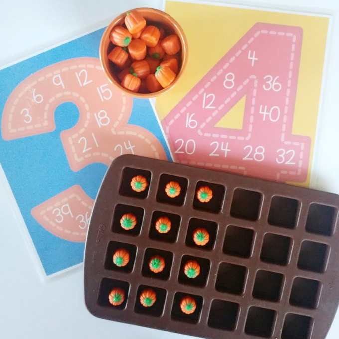 Create Arrays with Candy Pumpkins by This Little Home of Mine