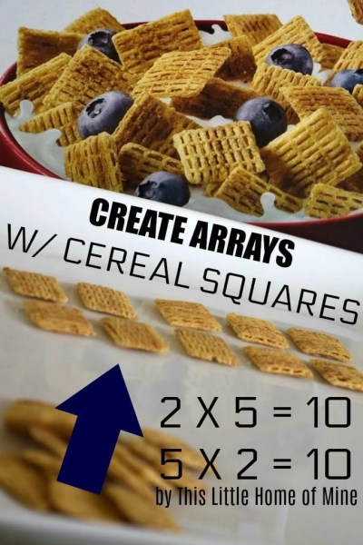 Math Activity: Use Cereal Squares to Create Arrays