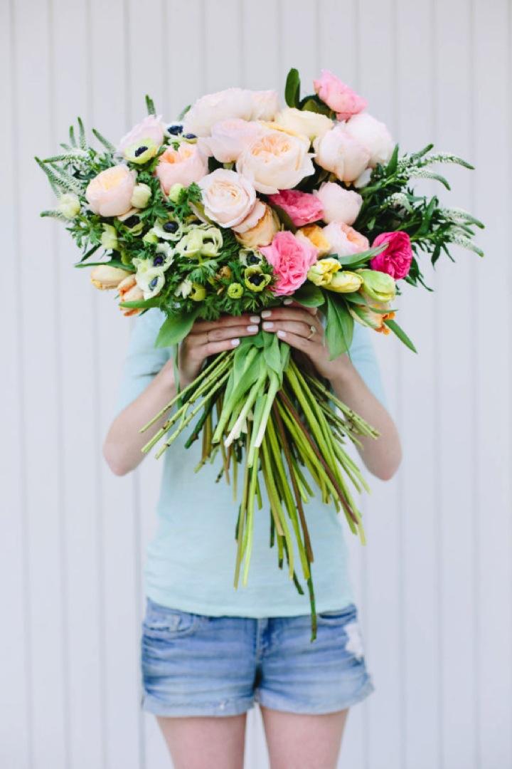 giant paper flower bouquet