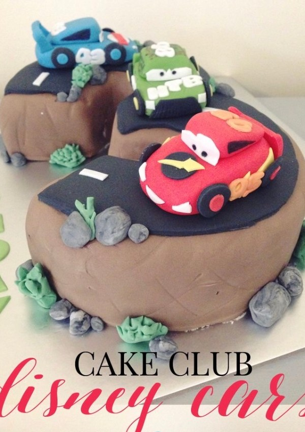 Disney car cake number 3 cake