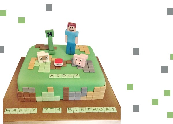 How to make a Minecraft cake the easy way! @gymbunnymum gymbunnymummy.com