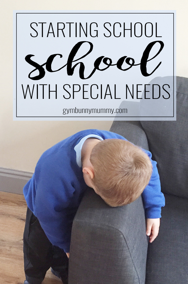 Starting school with Special Needs can be so hard, for both the child & the parents. Our little man has Autism and is starting a Special Needs school this year
