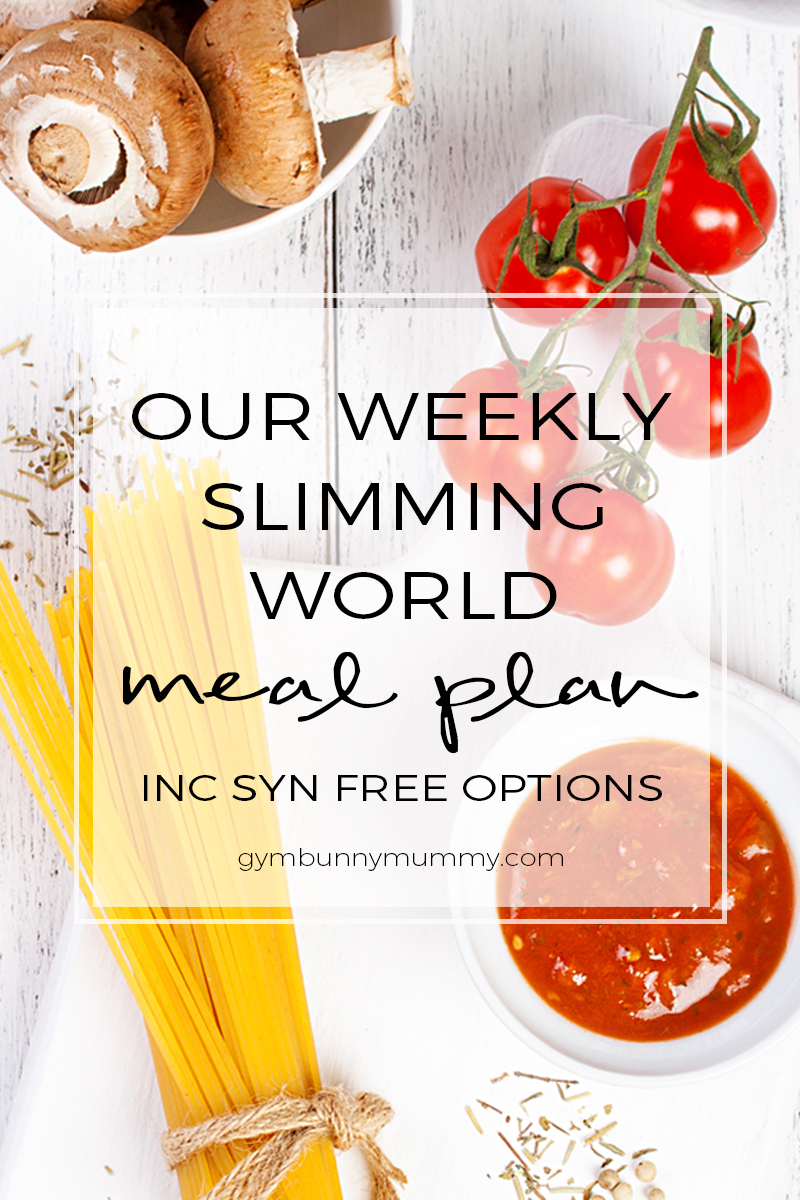 Slimming World Meal Plan 20th February 2017 This Mama